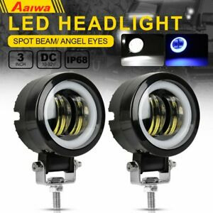 2x 3inch 40w Cree Led Spot Round Work Lights Driving Pods Offroad Motorcycle Atv