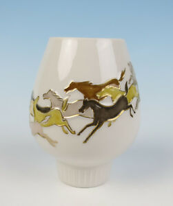 Hans Achtziger Mid Century Modern Horses Candle Holder Hutschenreuther Porcelain