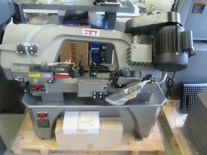 New Jet 7 x12 Vertical Horizontal Bandsaw On Wheels coolant System 3 4 Blade
