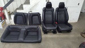 2015 2017 Ford Mustang Gt Black Leather Seats Front back Heated cooled Oem