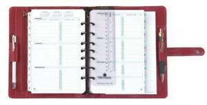 Day timer Simulated Leather Organizer Magnetic Tab Desk Size Planner 5 5 X 8