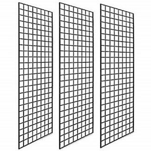 Pack Of 3 Gridwall Panels 2x5 Black Color