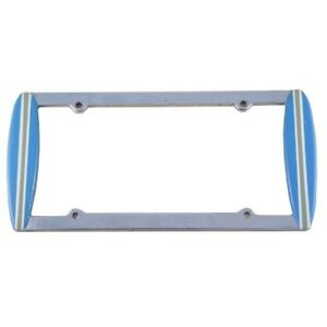 Blue Surfboard Chrome License Plate Frame Surf Board Pimp My Ride Cool Car