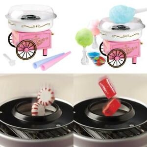 Electric Cotton Candy Maker Sugar Free Fluffy For Kids Toddlers Vintage Cart Kit