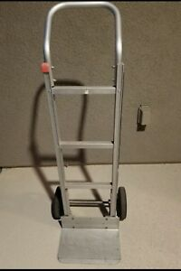 Heavy Duty Aluminum Hand Truck 2 Wheel Dolly Push Moving Cart 550 Lb Us