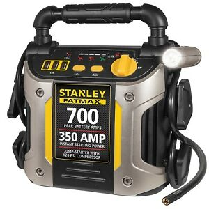 Jump Starter 700 Peak 120 Psi Air Compressor Stanley Car Battery Charger Usb