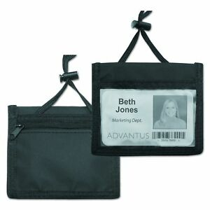 Advantus Id Badge Holder convention Pouch With 48 Inch Cord Horizontal 4 X