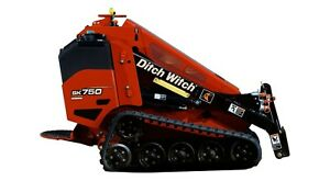 2015 Mini Skid Steer Ditch Witch Sk750 Walk Behind Skidsteer Sk 750 Miniskid
