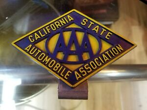 Vintage Aaa California License Plate Topper Gm Ford Chevy Rat Rod Dodge Pontiac