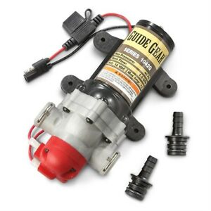 On Demand Water Pump Diaphragm 12v Quick Connect Ports 2 2 Gpm Boat Rv Attach