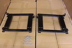 2x Crank Motorsport Bmw E30 Seat Adapter Rail Suit Bride Recaro Sparco