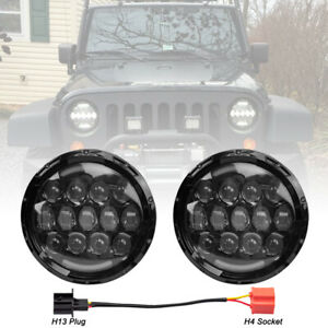 7inch 120w Led Headlights Pair High Low Beam Day Running Lamp For Jeep Wrangler