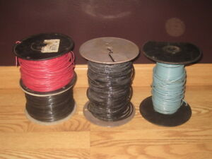Lot 4 Spools 10 Awg Black Blue Stranded 14 Awg Black Red Solid Copper Wire