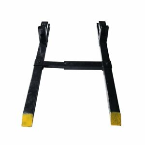 1500 Lbs Clamp On Pallet Bucket Forks Loaders Tractor Adjustable Stabilizer Bar