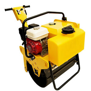 Vibratory Roller 550 Lbs With 5 5hp Honda Engine For Road And Asphalt Teqmac