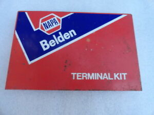 Vintage Napa Belden Solderless Terminal Connector Kit