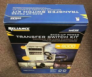 New In Box Reliance Back up Power Transfer Switch Kit 306lrk 6 Circuit 3000 W