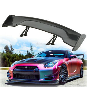Universal 57 5 Adjustable Carbon Fiber Color Rear Trunk 3d Racing Spoiler Wing