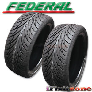 2 Federal Ss595 255 40r17 Ultra High Performance Tires