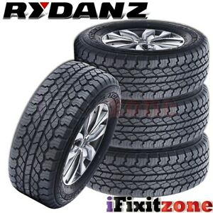 4 New Rydanz Raptor R09 255 70r16 Tl 111s Performance Tires