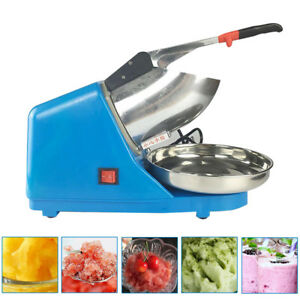 Ice Shaver Machine Snow Ice Crusher Electric Crusher Shaving Summer Cool 65kg h