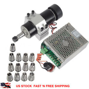 110v 500w Cnc Air Cooling Spindle Motor 52mm Holder Speed Governor Er11