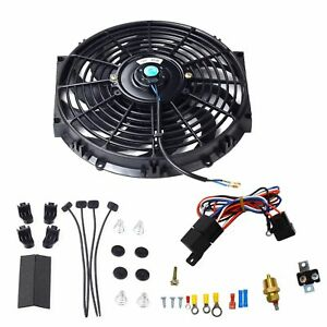 12 Universal Electric Radiator Cooling Fan 12v W Thermostat Relay