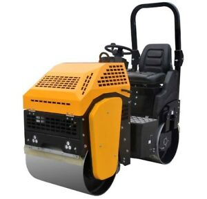 Vibratory Roller 2 000 Lbs With Honda Gas Engine For Road And Asphalt Teqmac