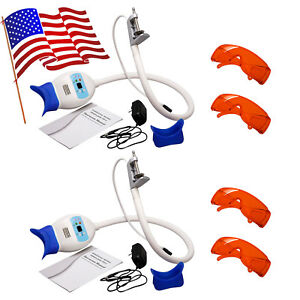 2x Dental Teeth Whitening Machine Led Cold Light Lamp Accelerator Goggles 4