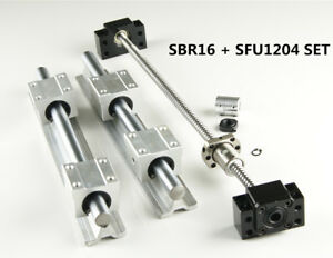 Sbr16 Linear Rail Guide Shaft Set Sfu1204 Blallscrew Kit 300 1500mm Us Stock