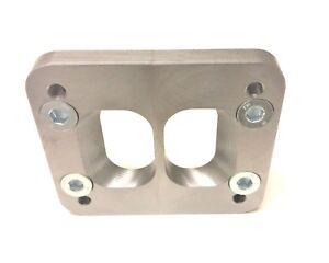 T4 To T3 Counter Bored Divided Turbo Flange Adapter Plate For Cummins Manifold