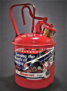 Vintage Snap on Eagle 1 Gallon Gas Fuel Oil Safety Can