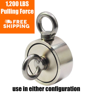 Strongest Fishing Magnet 1 200 Lbs Pulling Force 2 Sided Magnet Fishing