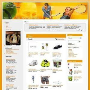 Established Online Tennis Sport Shop Business Website For Sale Free Domain Name