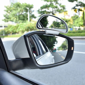 1 Pair Universal Car Rear View Mirror Wide Angle Side Blind Spot Square Mirror