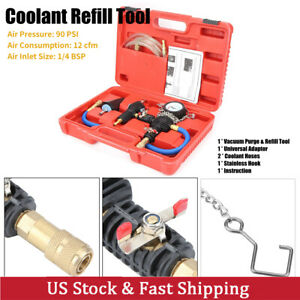 Radiator Pressure Tester Vacuum type Cooling System Refill Tool Set W case