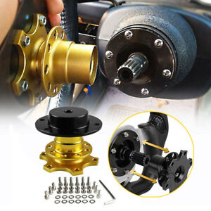 For Universal Car Steering Wheel Quick Release Hub Racing Adapter Snap Off Boss