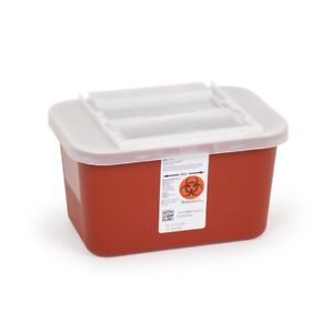 1 Gallon Sharps Container Multipurpose Biohazard Disposal Red W Lid 30 Pack