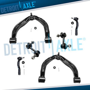 Front Upper Control Arms Outer Tie Rod Sway Bar For 2004 2015 Nissan Titan