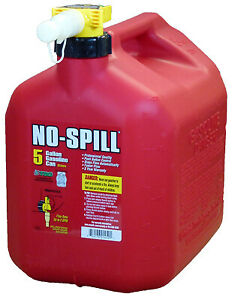 No Spill 1450 Gas Can Carbon Or Carbuerator Compliant 5 gal