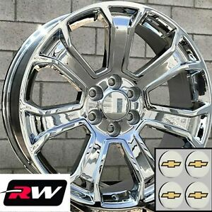 22 X9 Inch Rw 5665 Wheels For Chevy Truck Chrome Rims 6x139 7 6x5 50 24 Set