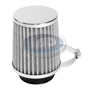 Vw Bug Ghia Bus Chrome Tapered Pod Air Cleaner Filter 2 Neck 4 3 4 Tall