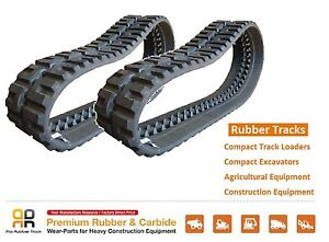 2 Pcs Rubber Track 320x86x50 Case 420ct New Holland C175 C227 Skid Steer Loader