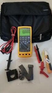 Lightly Used Fluke 789 Process Meter With Leads storage Case And More