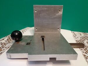 Table Saw Angle Plate Aluminum Heavy Duty Precision Tool Custom Crafted Tool Die