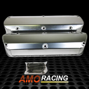 Fabricated Polished Aluminum Valve Cover W Long Bolt Fit Sbf Ford 289 302 351w