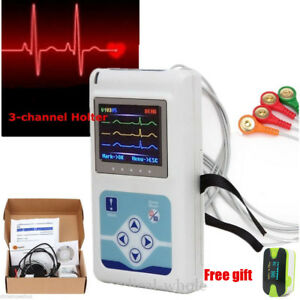 3 Channels Ecg Holter Dynamic Ecg ekg Holter Monitor System Holter Monitoring