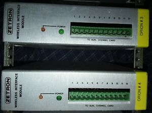 2 Zetron Wireless Interface Module 950 9868 S4000 Orion Int Lot Of Two