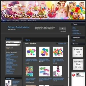 Party Supply Store Google Adsense Amazon Affiliate Website Business For Sale