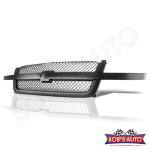 For 2003 2005 Chevy Silverado 1500 2500 3500 Ss Style Silver Mesh Upper Grille